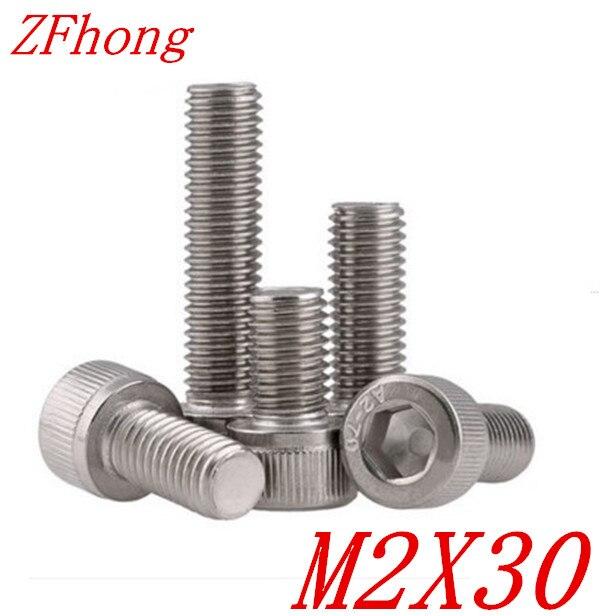 1000PCS DIN912 M2*30 Stainless Steel 304 Hexagon Hex Socket Head Cap Screw<br><br>Aliexpress
