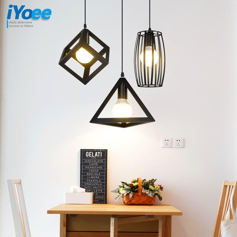 Retro indoor Edison lighting Vintage pendant light Personality LED lights  iron cage lampshade warehouse style light fixture<br>