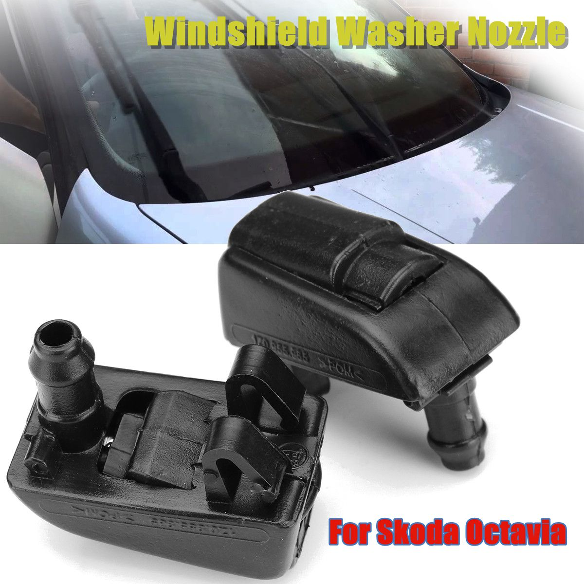 Universal Car Front Windshield Wiper Washer Sprayer Jet Nozzle Replacement LIN