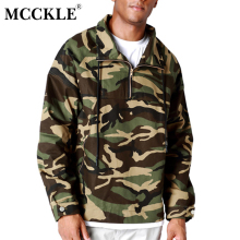 MCCKLE 2017 Men Jacket Spring Autumn New Casual Camouflage hoodies Fashion Men unique Hip hop Coat Plus Size Jacket Men(China)