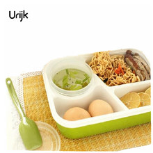 Urijk 4 Cells Healthy Plastic Food Container Food Boxes Adults Lady Kid Lunchbox Lunch Set Box Bento Box Containers