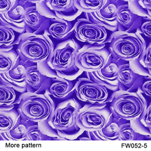 Free shiipping!! FW052-5 Decorative Material 5square Width 0.5m Purple rose flower patterns water transfer printing film(China)