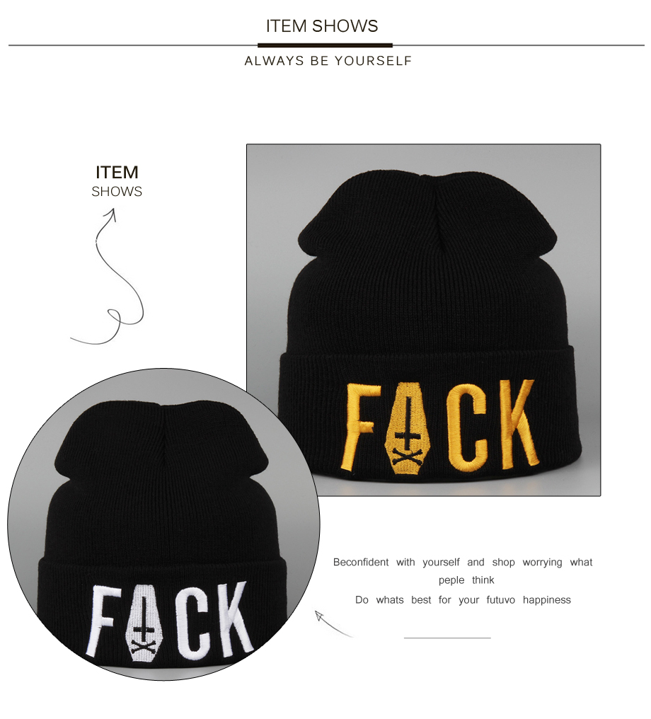 ADK Men Women Embroidery Knied Hat Personalized Style Caps Fashion Casual 2018 Autumn Winter Beanie For Boys #CAP147 (5)