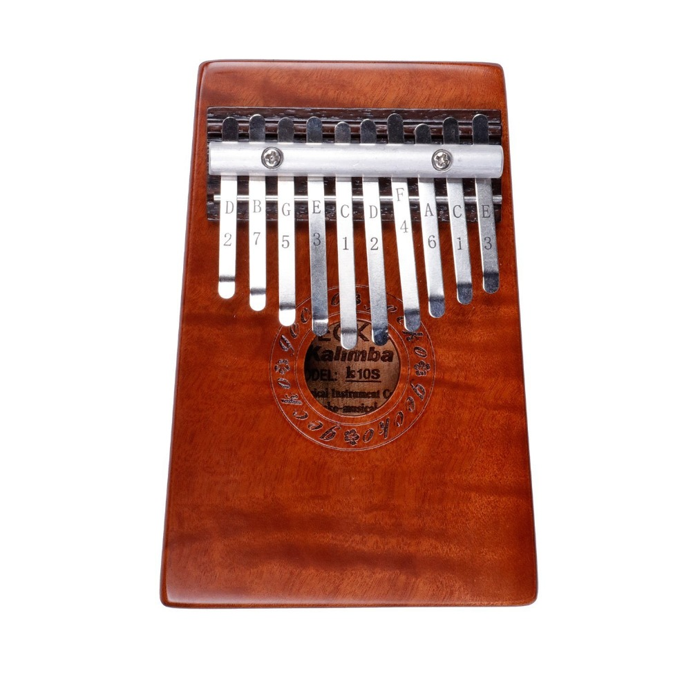 Mahogany Solid Wood Music Creative Natural 10 Keys Kalimba Finger Thumb Piano Practice Finger Flexibility Coordnation<br>