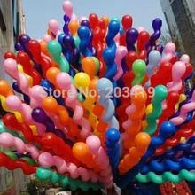 spiral pearl screw 150cm stick colorful Latex Balloons for Birthday Wedding Party Decoration wholesale retail(China)