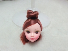 10pcs/lot DIY Doll Accessories Kids Toy Dolls Head with Pretty Makeup Doll Heads For Barbie Doll For 1/6 BJD Dollhouse(China)