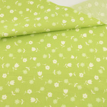 Green Cotton Fabric Quilting Sewing Cloth Craft Bedding Decoration Teramila Fabric Tissue Home Textile Lovely Flowers Baby Cloth(China)