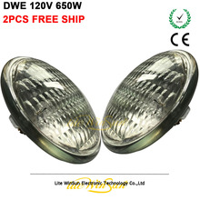 Free Ship 2pcs/lot Traditional Par Lamp Source Par36 650W DWE Replace for GE