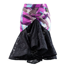 Free Shipping Latin Dancing Skirts For ladies Purple Lycra Silk Skirts Women Adult Paso Traditional Indian Ballroom Fashion 1060