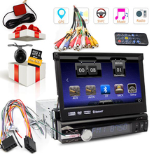one din EQ MP3 Autoradio RDS 1 Din USB BT Navigator Music System Stereo iPod GPS Car DVD Player Logo CD Camera AMP Radio