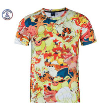 2017 Mr.1991INC&Miss.GO Pokemon Pikachu Men t shirt vibrant cute cartoon kawaii T-shirt summer fashion casual fitness tee tops - Muscle Guys Store store