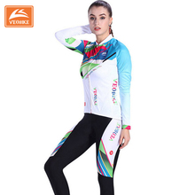 Buy 2017 Veobike Womens Cycling Jersey Set Bicycle Team Racing Clothing Quick-Dry MTB Lady Bike Jerseys Long Sleeve Cycling Set for $45.55 in AliExpress store