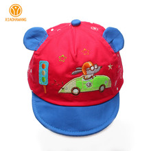 Cartoon Baby Caps Cotton Boys Girls Hat Summer Baby Caps With Ear Car Embroidery Baseball Cap Soft Baby Accessories 3-12 Months(China)