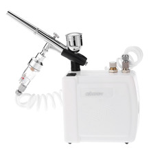 110-240V Airbrush Compressor Kit Dual Action paint spray gun sandblaster for Painting Makeup Cake Model Air-Brush Nail Tool Set
