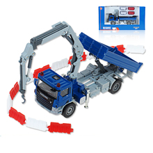 Free delivery truck dump truck crane model boys and girls toy car gift collection 1:50(China)