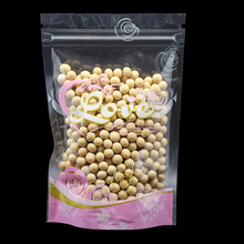 300Pcs/Lot Stand Up Clear / Pink Zip Lock Dried Food Storage Pouched Bags Doypack Self Seal Zip Top Tea Coffee Nuts Package Bag