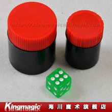 Kingmagic Talking Dice/Dice Capsules/Thousand mile eye/magic dice/magic props/ 2pcs/lot -Free shipping by CPAM
