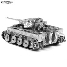 Finger Rock 3D Metal Puzzles Assemble DIY Tank Model Toys New Year Gift WJ171