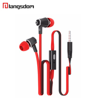 Langsdom Stereo Earphone Super Bass Headset With Mic Headphone Noise Canceling Earbuds for iphone 7 mp3 earphone smartphone