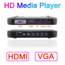 Free Shipping!3D Full HD 1080P USB External HDD Media Player with HDMI VGA AV SD Support MKV H.264 RMVB WMV