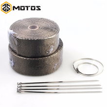 ZS MOTOS 1.5 mm*25 mm*15 m Fiberglass Exhaust Protection Pipe Heat Header Insulation Tape Turbo Wrap
