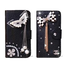 DIY Handmade Wallet Crystal case For Blackberry Priv PU Leather Cases Wallet Bling wallets phone cases Rhinestone case
