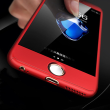 ipaky 3 in 1 New Design Red Color  Fitted Cover Case for iphone 6 6S 7 7 Plus Knockproof Function Smartphone Front Cover Shell