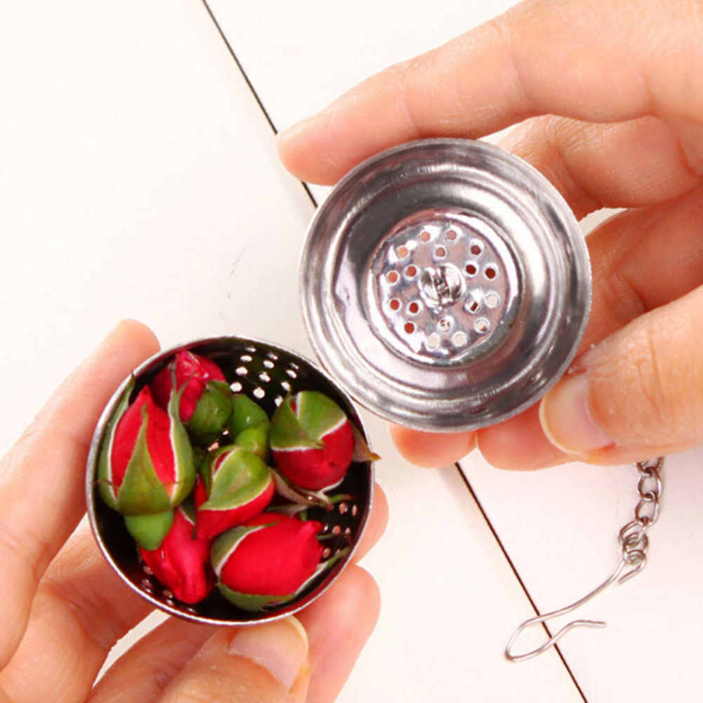 1PCS Sphere Locking Spice Tea Ball Strainer Mesh Infuser Filter Silver Kichen Stainless Steel Fashion Tool(China (Mainland))