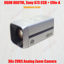 "960H D1 800TVL Analog 36x 26x Optical 1/3"" Sony 673 672 CCD Effio-A 4151 Japan Lens CCTV Zoom Camera ICR Auto Focus Box Camera"
