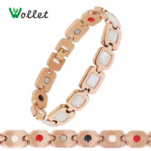 Wollet White Shell Negative Ion Germanium Titanium MagneticJewelry Bracelets Brand for Women(China)