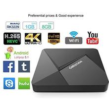 Android5.1 HD iptv top TV Box 8GB WiFi H.265 android satellite Receiver Media Movie TV Adapter Controller set top box
