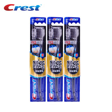 Crest 3pc Ultra Soft Bristles Nano Toothbrush Travel Lot Tongue Cleaner Brush Teeth Oral Care Brosse a dent Adults Tooth brush(China)