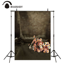 Allenjoy photo backdrops pink flower pure color curtain vintage background portrait shooting photo prop high quality(China)