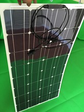 100w 12v new semi-flexible solar panel, the use of life for a long time, high energy conversion(China)