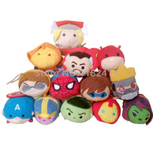 Tsum Tsum Mini Plush Toy Avengers Women of Power Spider Man Flash Hawkeye Guardians of the Galaxy Cute Smartphone Screen Cleaner(China)