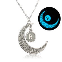 Buy 2017 Fashion Shine Letters Charm Luminous Stone Necklaces Women Creative Pendant Necklace Statement Jewelry Kid Gift collar for $1.49 in AliExpress store