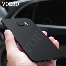 VOERO Ultra Thin Black Scrub Matte Soft Silicon Case For Samsung Galaxy J5 J7 A3 A5 A7 2015 2016 2017 S6 S7 Edge S8 Plus Case(China)