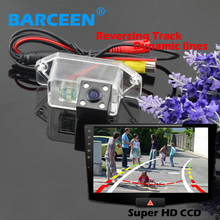 Wire 170 lens angle car rear reversing camera 4 led and  Dynamic track line ccd image sensor use for  Mitsubishi lancer