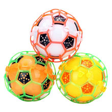 1Pcs LED Light Jumping Ball Kids Crazy Music Lighting Football Funny Bouncing Ball Toy Random Color