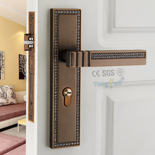 Modern Design Doors Handle Lock European Diamond Crystal Handle Interior Room-door Lock Door Hinges Closers