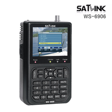Digital Satlink WS 6906 Satellite Signal Finder Satellite meter 3.5 inch LCD DVB-S2 FTA WS6906 with 3000mAh Battery