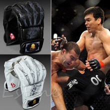 MMA UFC Sparring Bag Grappling Boxing Fight Ultimate Mitts Leather Gloves(China)
