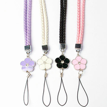 Cute Flower Colorful Mobile Phone Lanyard Phone Straps Neck Hanging Rope Card USB Holder Chain Keychain Charm Cords(China)