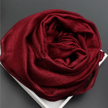 2017 Bandana Luxury Scarve Woman Brand Silk Scarf Women Shawl High Quality Solid Color Sunscreen Towel Wrap 23 Colors Dark Red