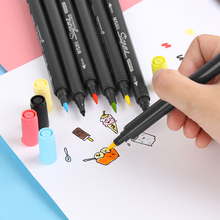 1Set Sketch Marker Pen Twin Tip Brush Art and Graphic Drawing Manga Illustrating Painting Tool School Stationery Office Supplies(China)