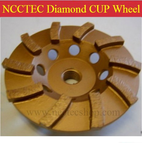 6 Diamond heavy duty grinding cup Wheels | 150mm Concrete cement floor grind CUP-shaped discs | silver welding 10 segments<br>