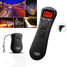 LCD Time Lapse intervalometer Wireless Timer Remote Control Shutter Release as TC-80N3 for Canon 7D 1D 5D Mark II III 6D 50D 40D