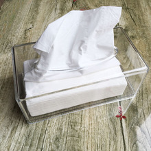 Modern Acrylic Facial Tissue Dispenser Box Cover / Decorative Napkin Holder YTB-009(China)