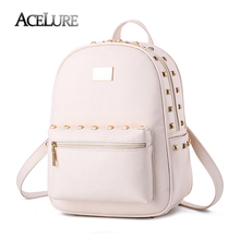 Female students backpack 2017 new pu leather Fashion Shoulder bag casual Korean high quality women bag temperament lady backpack