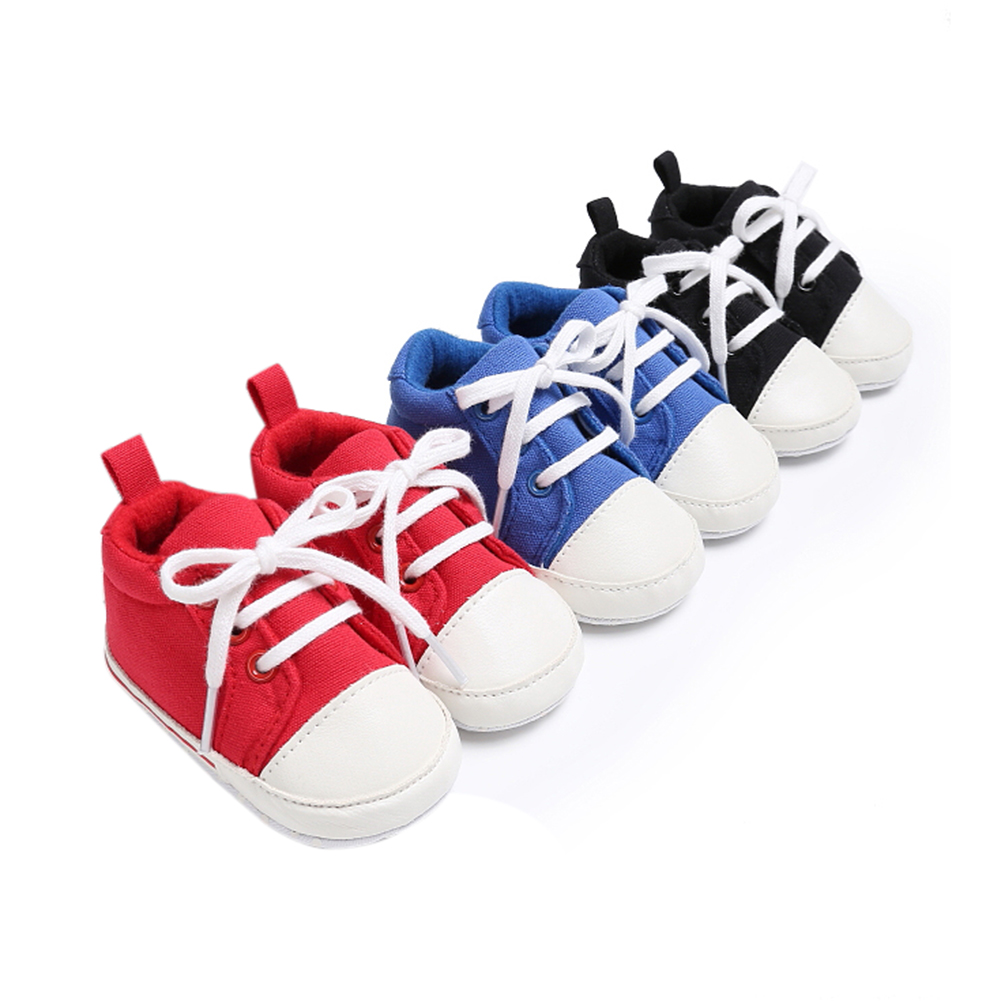 Spring Summer Newborn Canvas Shoes Sneaker Fashion 0-18 Month Baby Girls Boys Solid Soft Sole Shoes Prewalker First Walkers 4